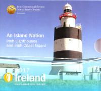 Ирландские маяки и ирландская береговая охрана. Годовой набор монет Ирландии. 2017 год, Ирландия.