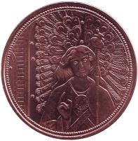 Архангел Рафаил. Посланники небес. Монета 10 евро. 2018 год, Австрия.
