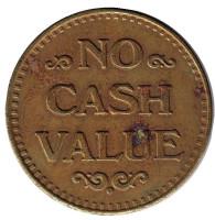 """Игровой жетон """"No Cash Value. Орел"""". (Без отметки)"""
