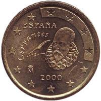 Монета 50 центов. 2000 год, Испания.