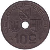 10 сантимов. 1943 год, Бельгия. (Belgique-Belgie)