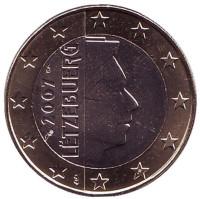 Монета 1 евро. 2007 год, Люксембург.