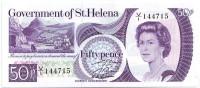 Банкнота 50 пенсов. 1979 год, Остров Святой Елены.