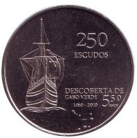 35 лет Независимости. Монета 250 эскудо. 2010 год, Кабо-Верде.