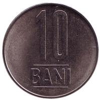 Монета 10 бани. 2018 год, Румыния.