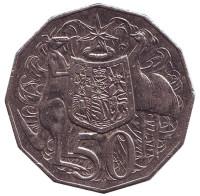 Монета 50 центов. 2010 год, Австралия.