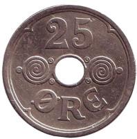 Монета 25 эре. 1938 год, Дания.