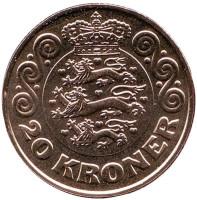 Монета 20 крон. 2017 год, Дания.