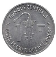 Монета 1 франк. 1967 год, Западные Африканские штаты.
