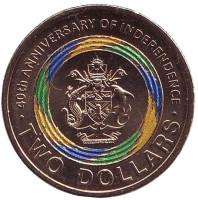 40 лет независимости. Монета 2 доллара. 2018 год, Соломоновы острова.