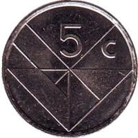 Монета 5 центов. 2003 год, Аруба.