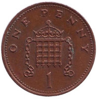 1 пенни. 1988 год, Великобритания.