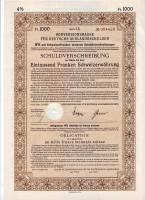 Кассовый конверсионный знак 1000 франков. Конверсионная Касса Управления по немецким долгам за границей. Берлин, 1935 год, Третий рейх.