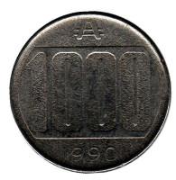 Монета 1000 аустралей. 1990 год, Аргентина.