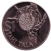 Кокос. Монета 1 тала. 1978 год, Токелау.
