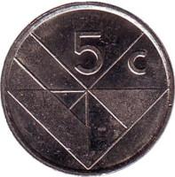 Монета 5 центов. 2005 год, Аруба.