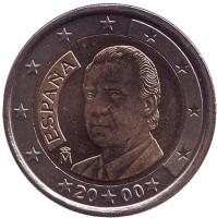 Монета 2 евро. 2000 год, Испания.