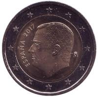 Монета 2 евро. 2017 год, Испания.