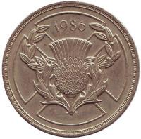 XIII Игры Содружества. Монета 2 фунта. 1986 год, Великобритания.