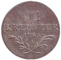 Монета 12 крейцеров. 1795 год (A), Австрия.