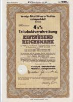 Электроэнергетическое акционерное общество. Акция 1000 рейхсмарок. Дортмунд, 1940 год, Третий рейх.