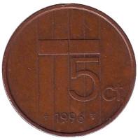 5 центов. 1996 год, Нидерланды.