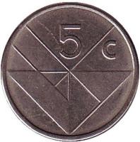 Монета 5 центов. 2007 год, Аруба.
