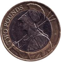Монета 2 фунта. 2016 год, Великобритания.