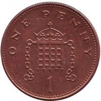 1 пенни. 1998 год, Великобритания.