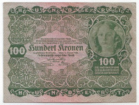 Принцесса Рохан. Банкнота 100 крон. 1922 год, Австрия. Из обращения.