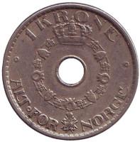 Монета 1 крона. 1946 год, Норвегия.