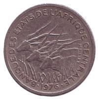 Африканские антилопы. (Западные канны). Монета 50 франков. 1976 год (A), Центральные Африканские штаты.