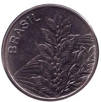 Кофе. Монета 5 крузейро. 1982 год, Бразилия.