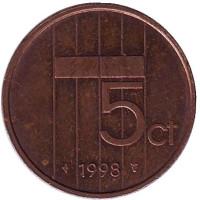 5 центов. 1998 год, Нидерланды.