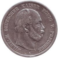 Монета 5 марок. 1876 год (A), Германская империя.