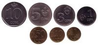 Набор монет Кыргызстана (7 шт.). 1 тыйын-10 сомов, 2008-09 гг.
