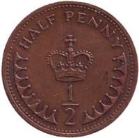 Монета 1/2 пенни. 1983 год, Великобритания.