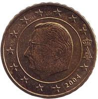 Монета 10 центов. 2004 год, Бельгия.