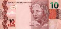 Банкнота 10 реалов. 2010 год, Бразилия.