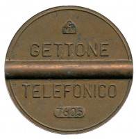 Телефонный жетон. 7605. Италия. 1976 год. (Отметка: CMM)