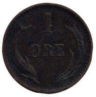 Монета 1 эре. 1882 год, Дания.