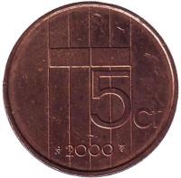 5 центов. 2000 год, Нидерланды.