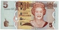 Банкнота 5 долларов. 2007 год, Фиджи.