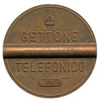 Телефонный жетон. 7608. Италия. 1976 год. (Отметка: CMM)