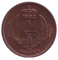 Монета 1 миллим. 1952 год, Ливия.