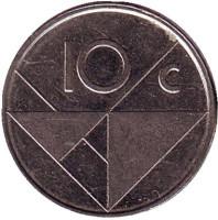 Монета 10 центов. 2005 год, Аруба.