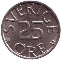 Монета 25 эре. 1983 год, Швеция.
