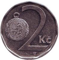 Монета 2 кроны. 2002 год, Чехия.