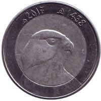 Сокол. Монета 10 динаров. 2017 год, Алжир.