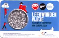 Леуварден. Культурная столица Европы. Монета 5 евро. 2018 год, Нидерланды.